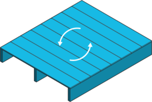 Icon of a deck with chasing arrows to indicate replacement