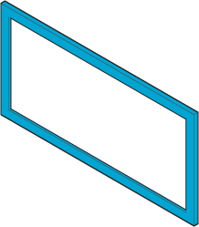 Icon of a vent with a highlighted frame.