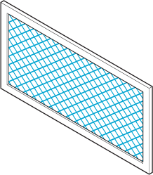 Icon of a vent with a screen.