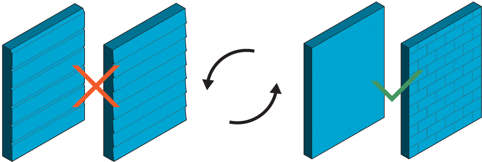 Icon of four types of wall siding.