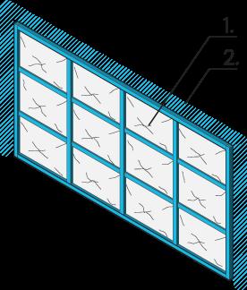 Icon of a garade door