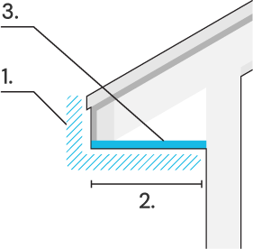 Icon of overhang and soffit