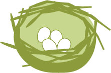 Icon of a nest and 4 eggs.