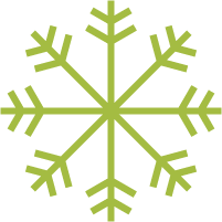 Icon of a snowflake.