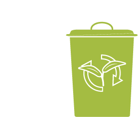 Icon of a green waste bin.
