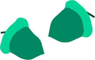 icon of two acorns