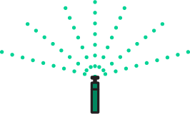 icon of a sprinkler
