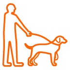 icon of a dog on a leash